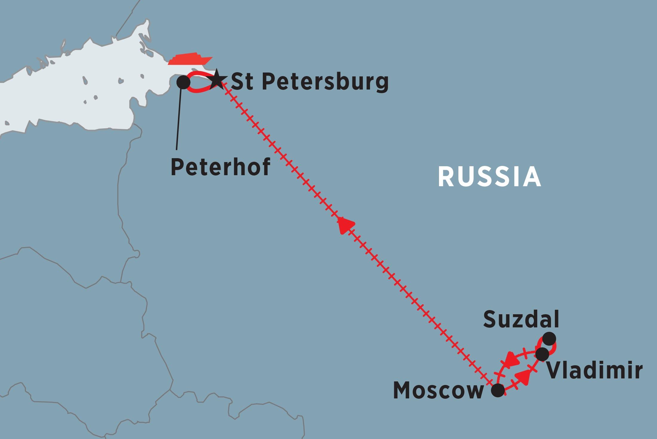 Vladimir Russia Map.Essential Russia Peregrine Adventures Eu
