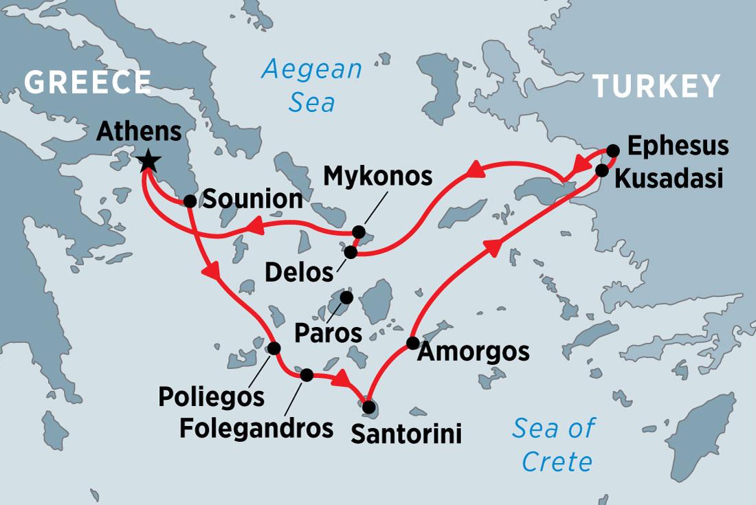 Cruising the Islands of Greece and Turkey   Peregrine Adventures AU