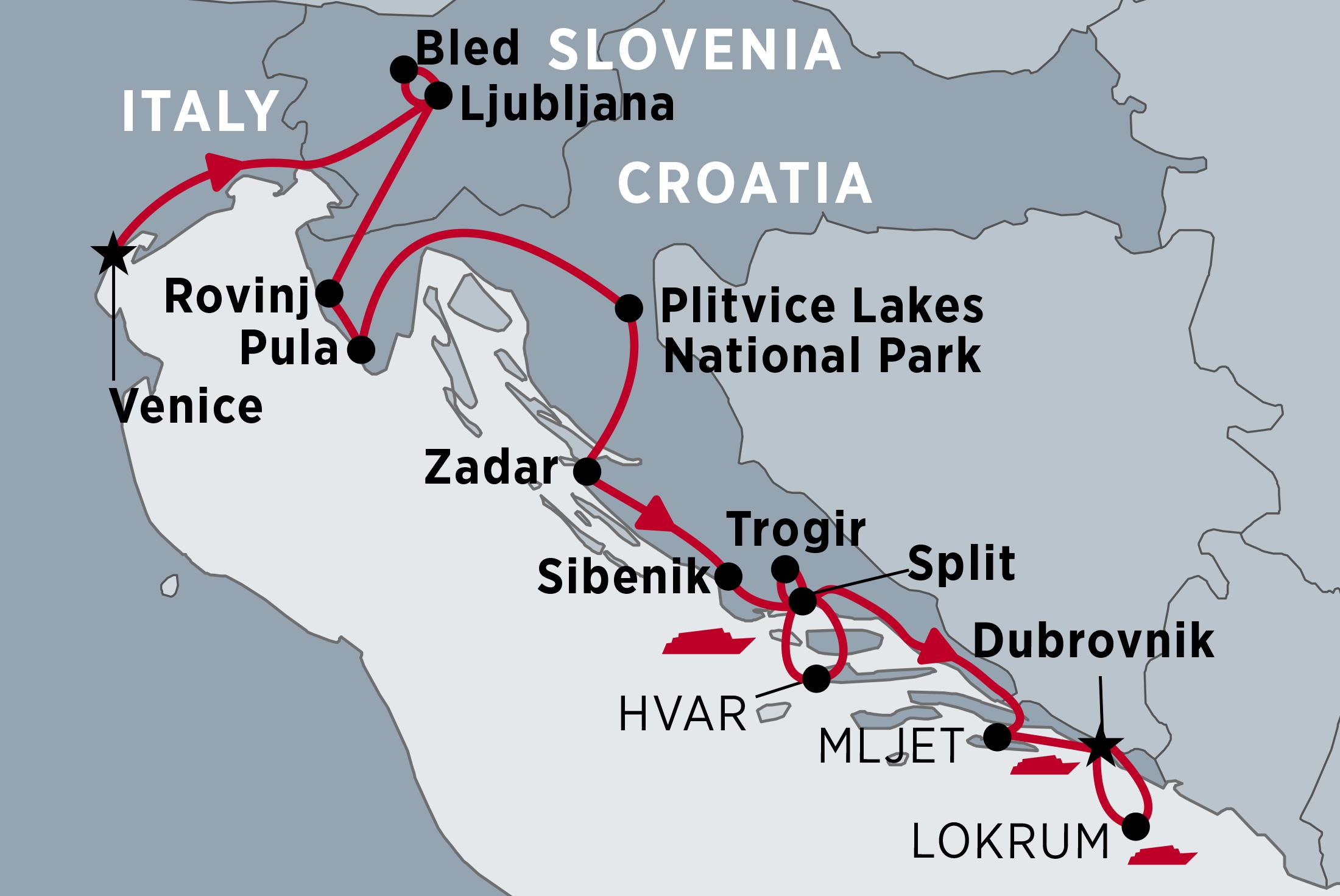 Jewels of the Adriatic  Croatia tours  Peregrine Adventures AU