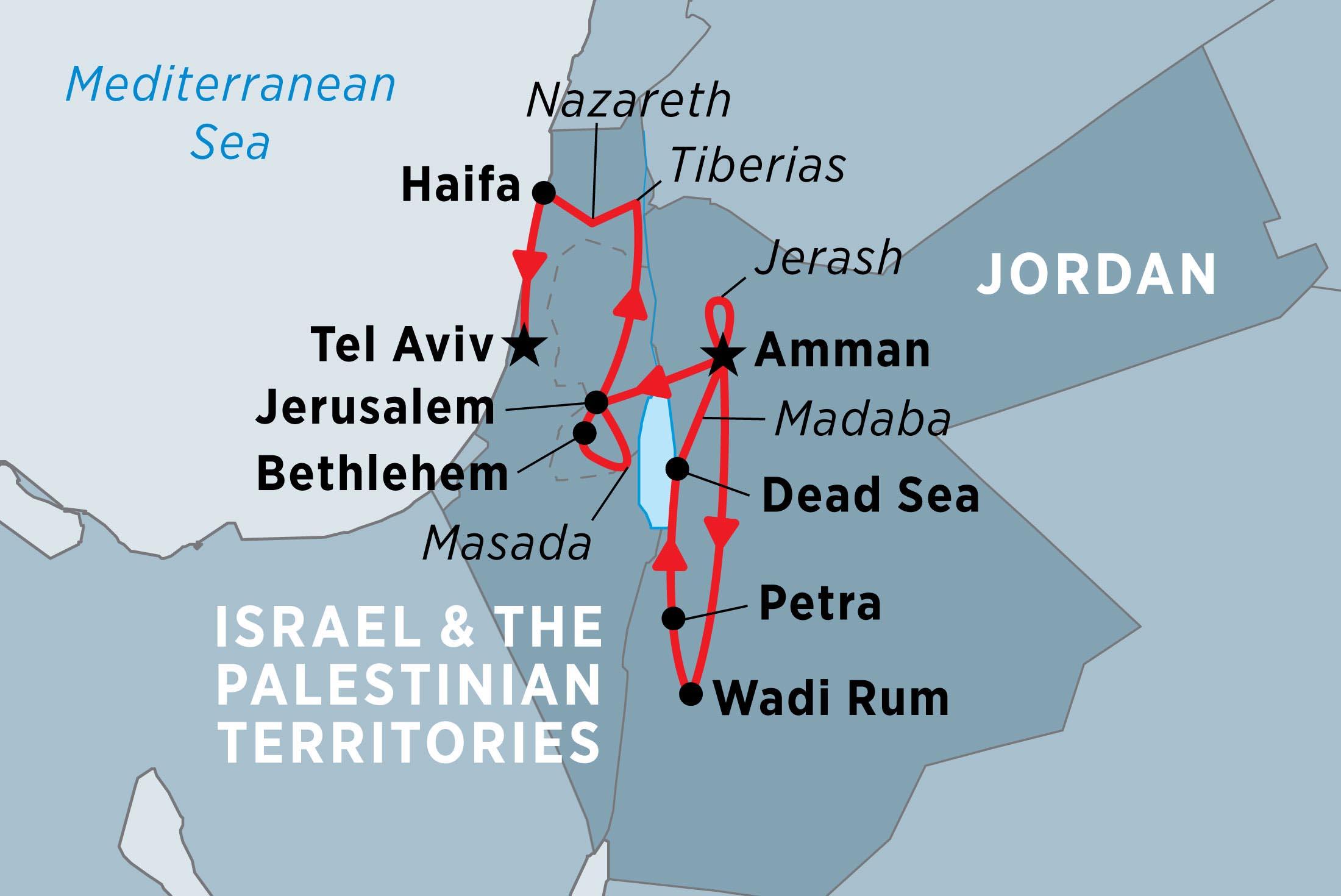 borroso bloquear Conciliador  Jordan, Israel & the Palestinian Territories | Peregrine Adventures US