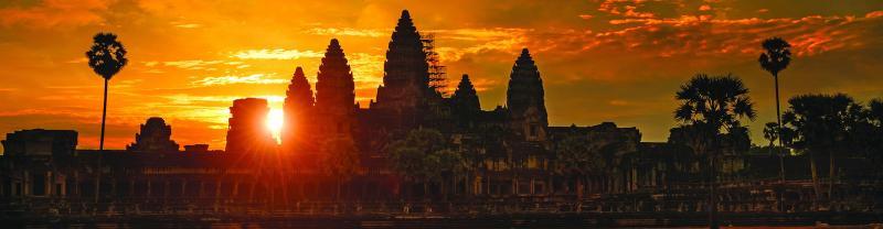 Cambodia Angkor wat sunset