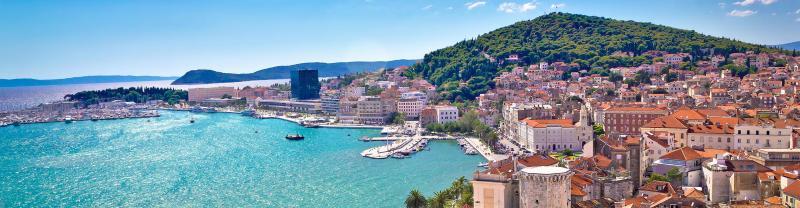 Croatia, Split, Harbour old town