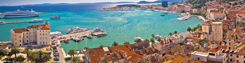 Cruise along the Dalmatia coast in Croatia, including a visit to Split
