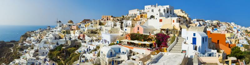 Greece, Santorini, Panorama village landscape