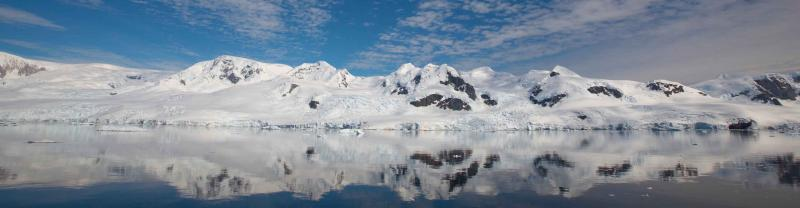 Mountain and sea panorama, Antarctica