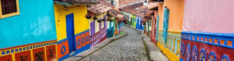 Colombia Guatape Colourful Street