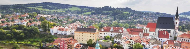 Czech Republic Town Aerialshot