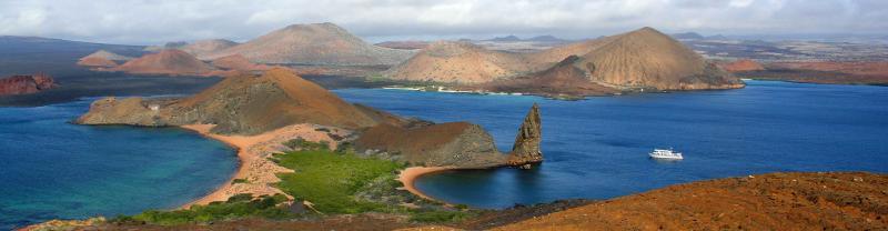 Galapagos Landscape Boat