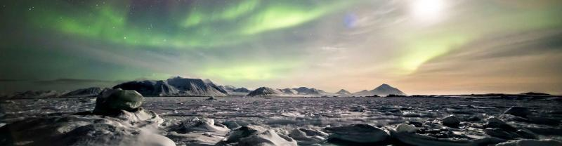 Iceland Northern Lights Snow