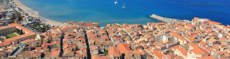 Italy Sicily Aerial View