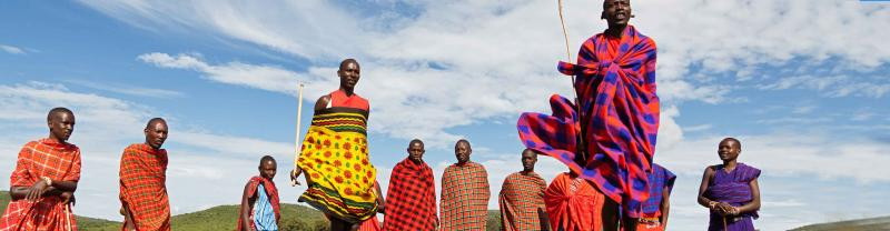 Kenya Masai People Jumping