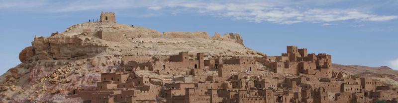 Morocco Ait Benhaddou Hill Daylight