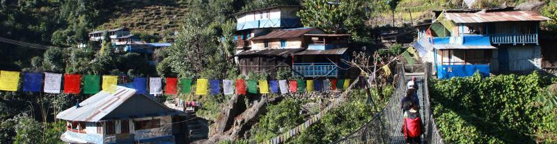 Nepal Annapurna Landscape Houses
