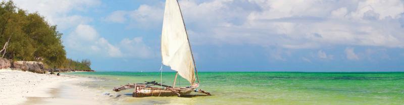 Tanzania Zanzibar Beach Sailboat