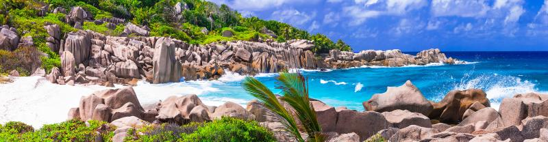 Seychelles beautiful beach sides