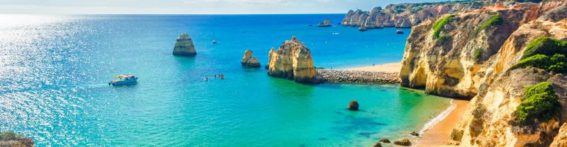 Beautiful beach side of Lagos in Portugal