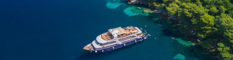 Adventure cruising in Croatia.