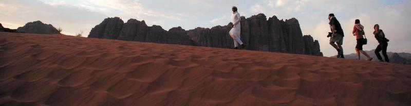 Travellers in Wadi Rum