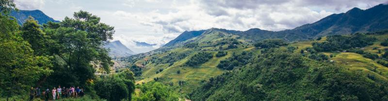 Hillside in Sapa, Vietnam