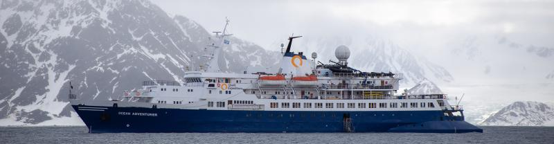 Ocean Adventurer ship in Arctic