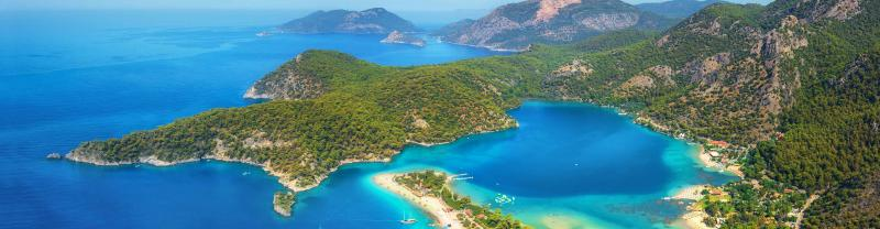 The blue waters of the Turkish Mediterranean