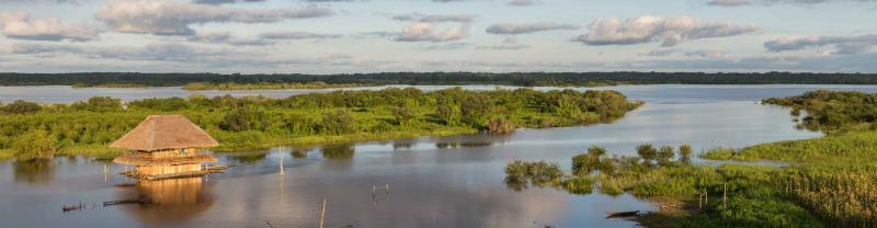 Amazon River Hut Panorama