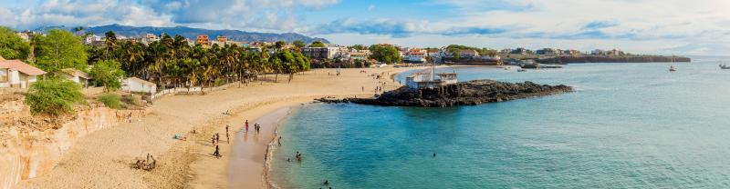 People enjoying in the beach sides of Cape Verde