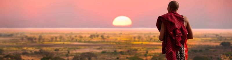 Sunset, Masai, Kenya
