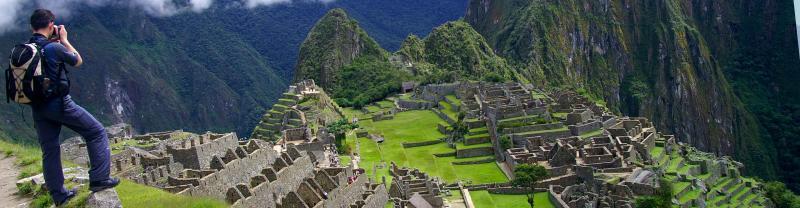 The ancient Machu Picchu ruins, South America