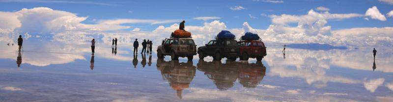 The Uyuni Salt Flats in Bolivia