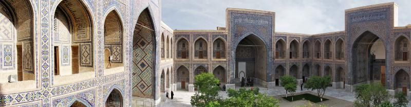 Beautiful building in Samarkand, Uzbekistan