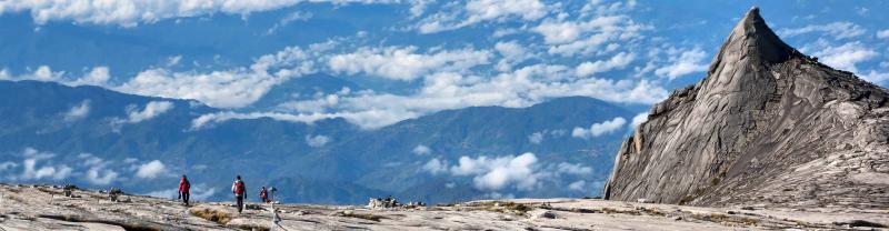 Top of Mount Kinabalu in Borneo