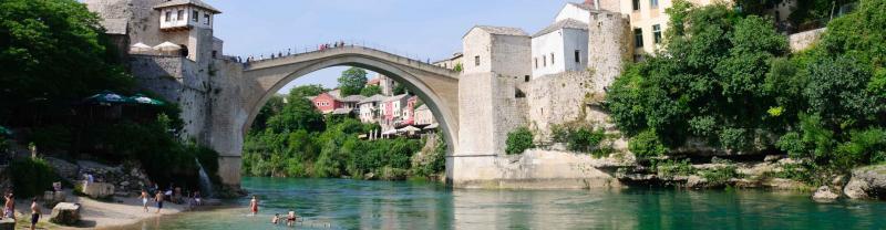 Mostar bridge in southern Bosnia and Herzegovina