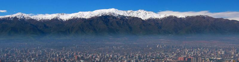 The city of Santiago in Chile