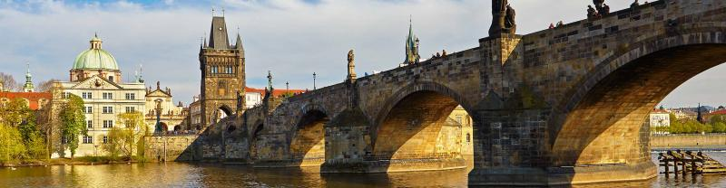 The Charles Bridge, seen on Czech Republic tours with Peregrine