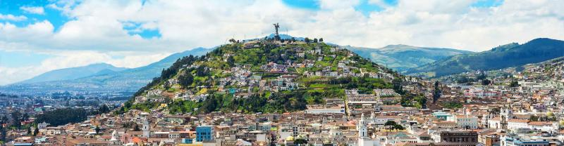 The city of Quito in Ecuador