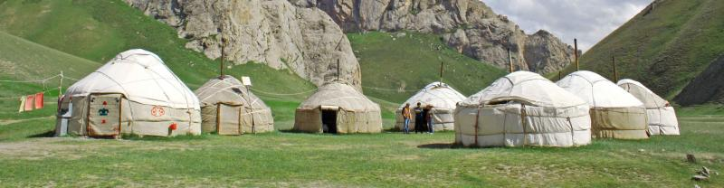 Traditional yurts in Kyrgyzstan