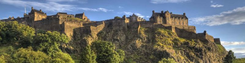 Scotland Edinburgh castle hill