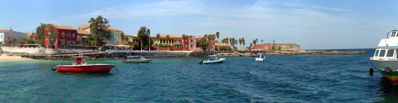 Picturesque harbour in Senegal