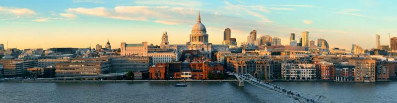 The skyline of London in the United Kingdom