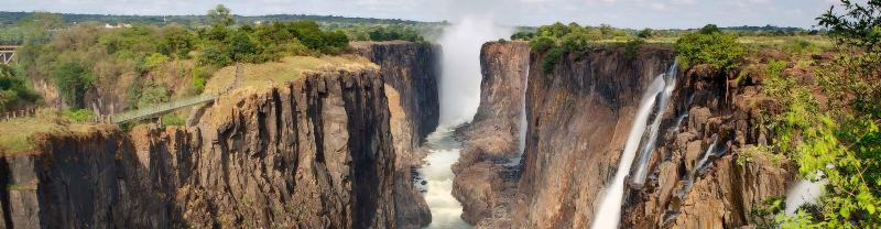 The iconic Victoria Falls in Zimbabwe