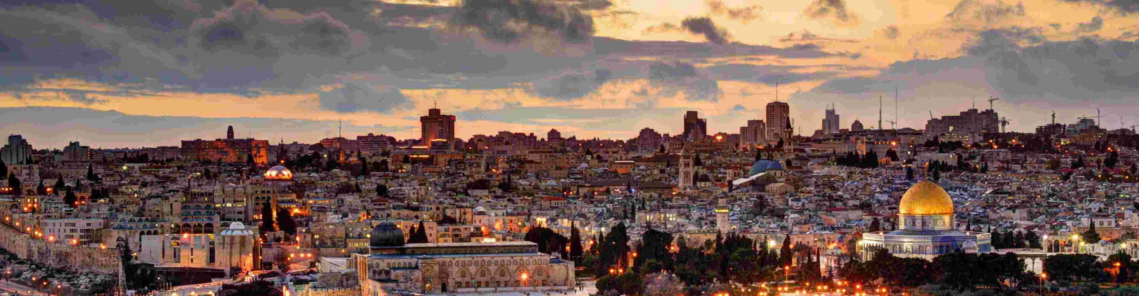 Israel Tel Aviv Skyline Dusk