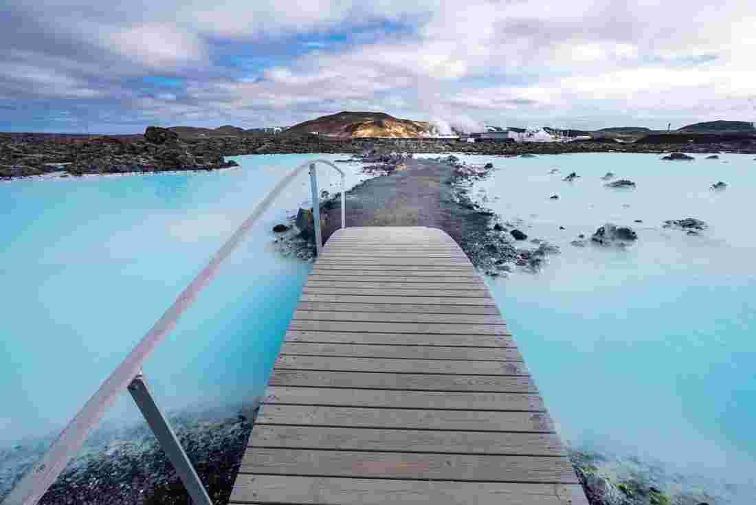 Peregrine Adventures Iceland Blue Lagoon Bridge Over
