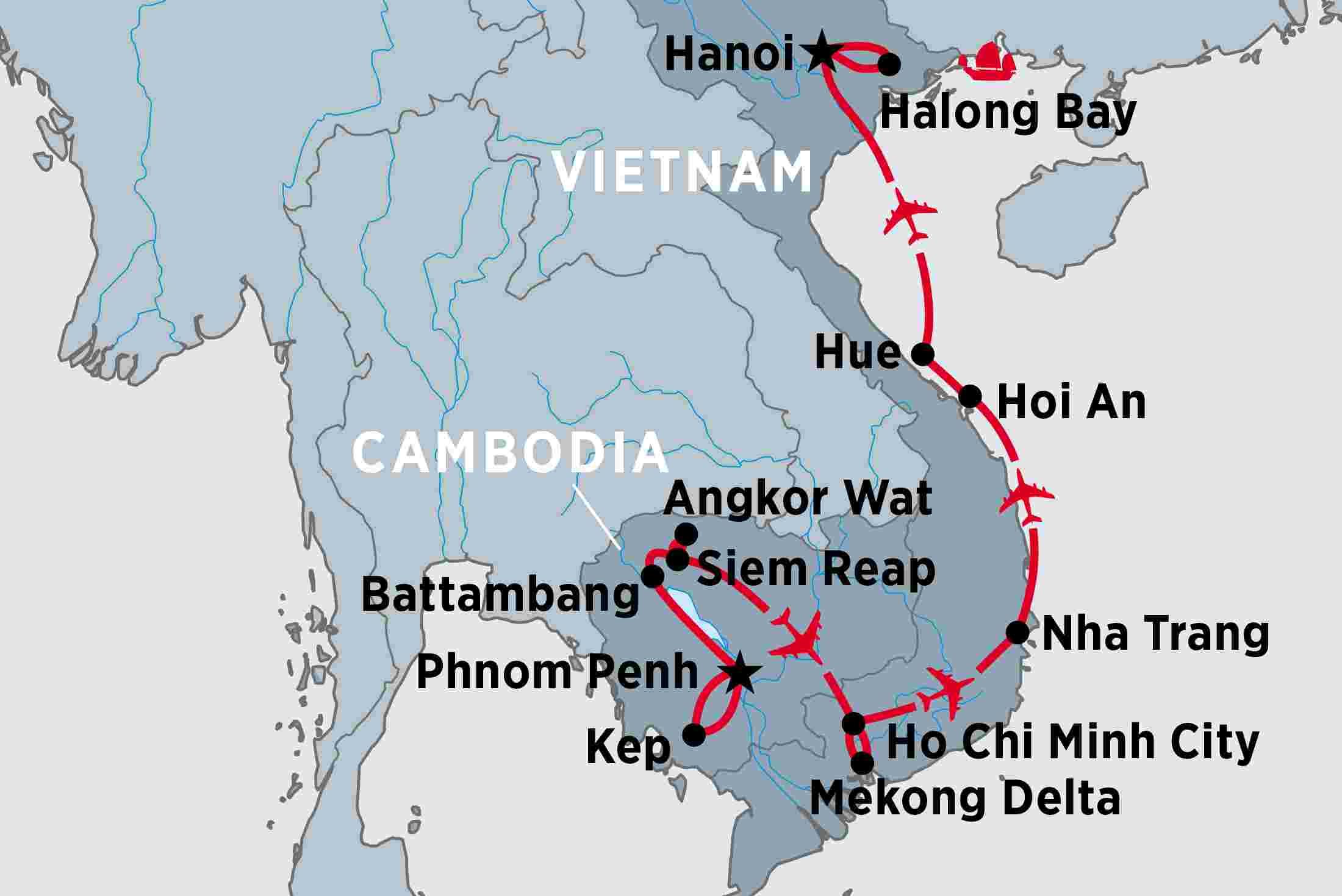 Ho Chi Minh Vietnam Map.Cambodia Vietnam In Depth Peregrine Adventures Au