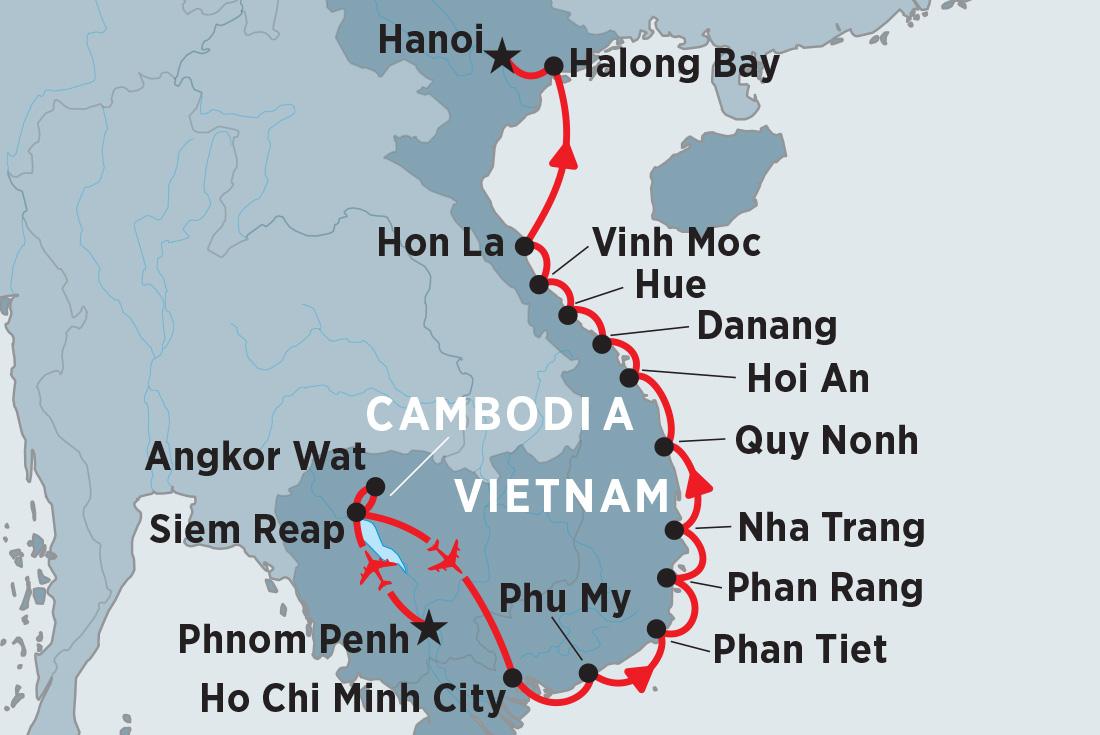 Ha Noi Vietnam Map.Best Vietnam Tours Travel Trips 2018 19 Peregrine Adventures Au