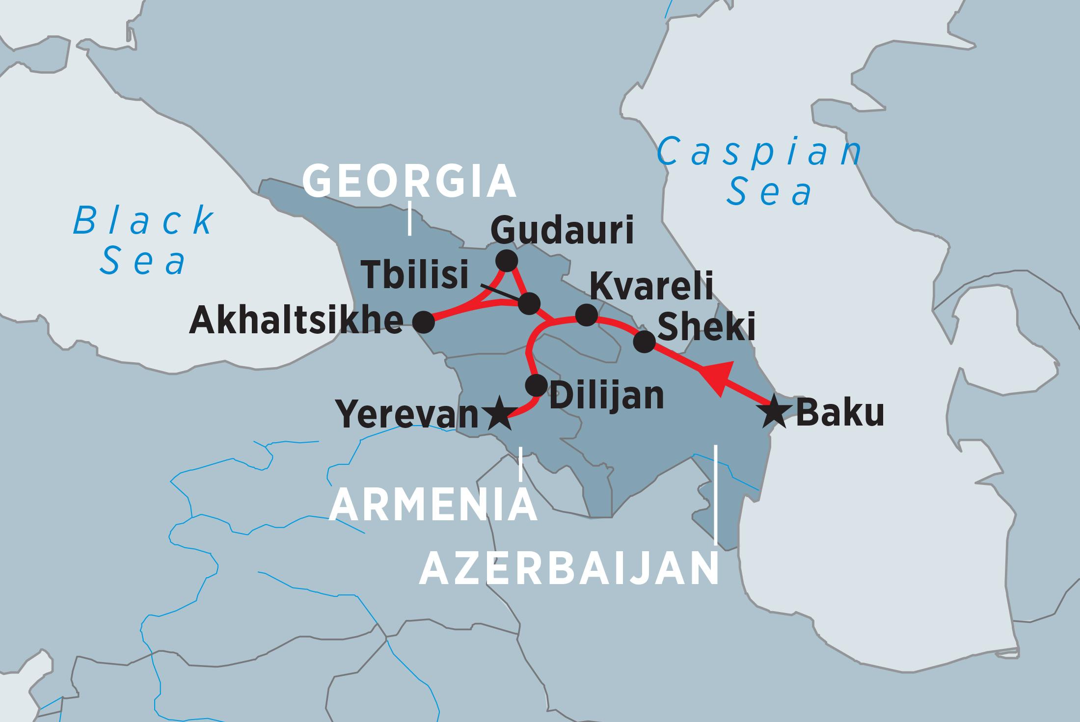 Explore Azerbaijan Georgia Armenia Overview Explore - Where is baku