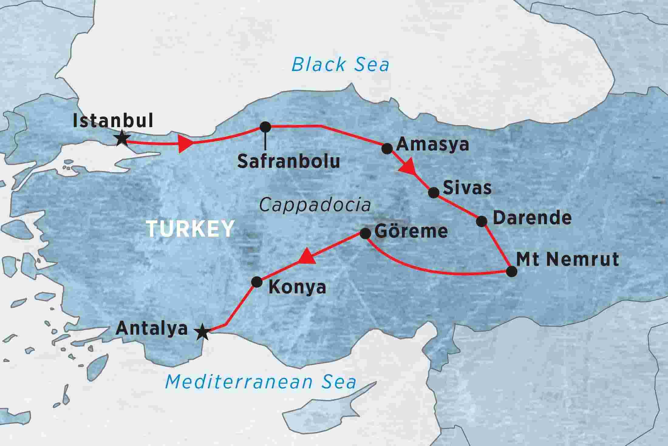 Central Turkey  the Black Sea  Turkey tours  Peregrine