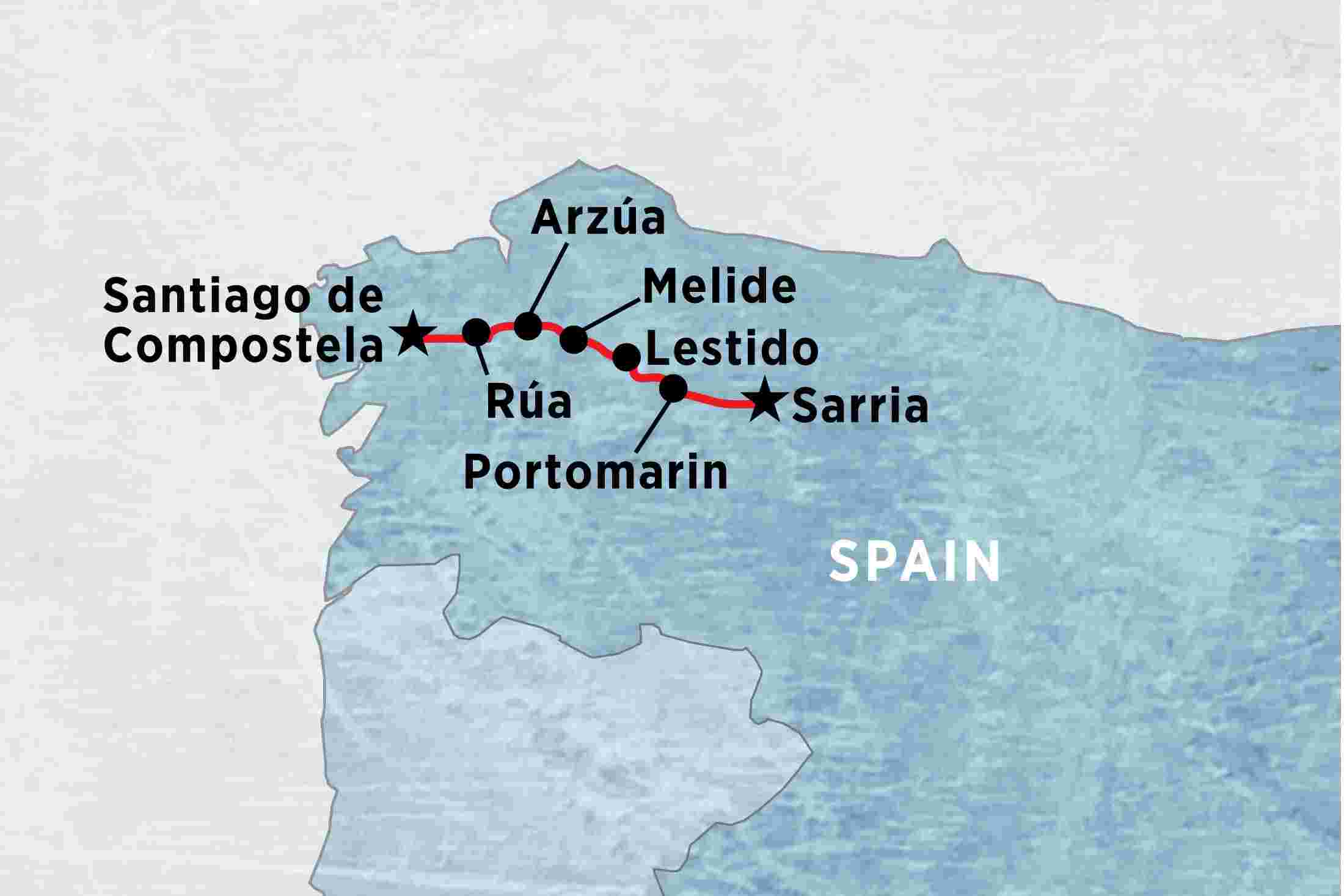 Camino Walk Spain Map.A Week On The Camino Self Guided Overview A Week On The Camino Self Guided