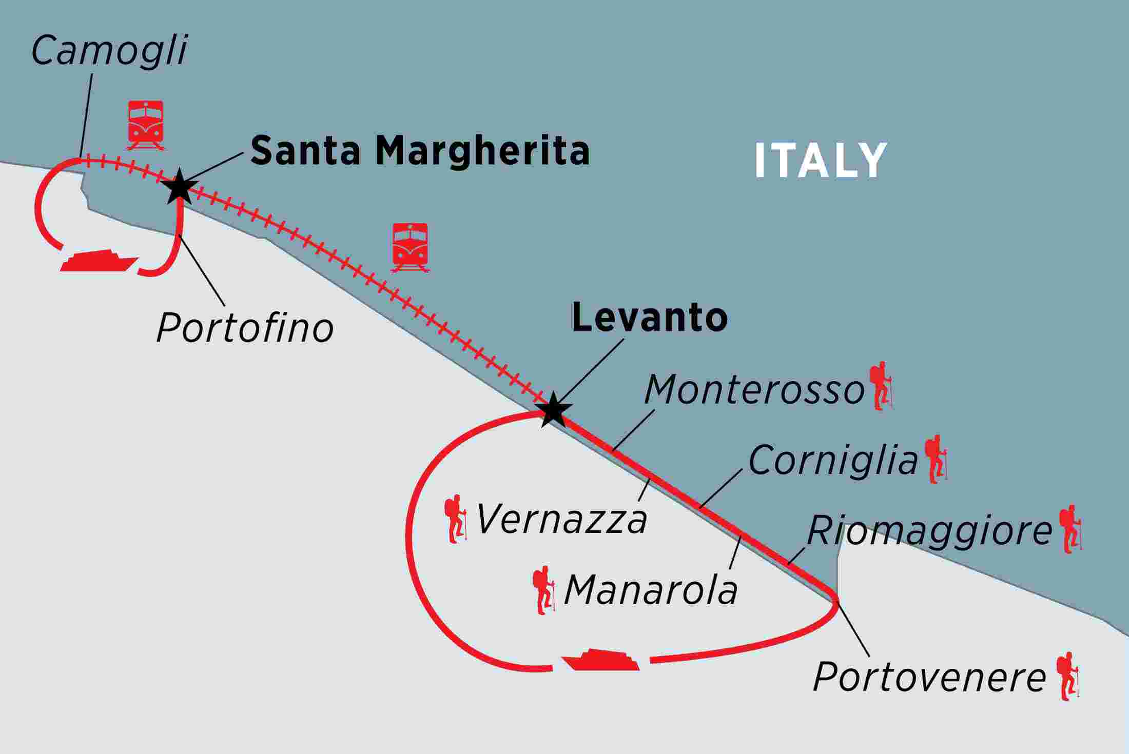 Walking in Italy: The Cinque Terre overview | Walking in Italy: The on san gimignano map, aeolian islands map, siena map, la spezia map, liguria map, manarola map, vernazza map, venice map, monterosso al mare, italy map, florence map, italian riviera map, san gimignano, lucca map, pisa map, la spezia, capri map, amalfi coast map, tuscany map, genoa map, italian riviera, positano map, portofino map, pietrasanta map,