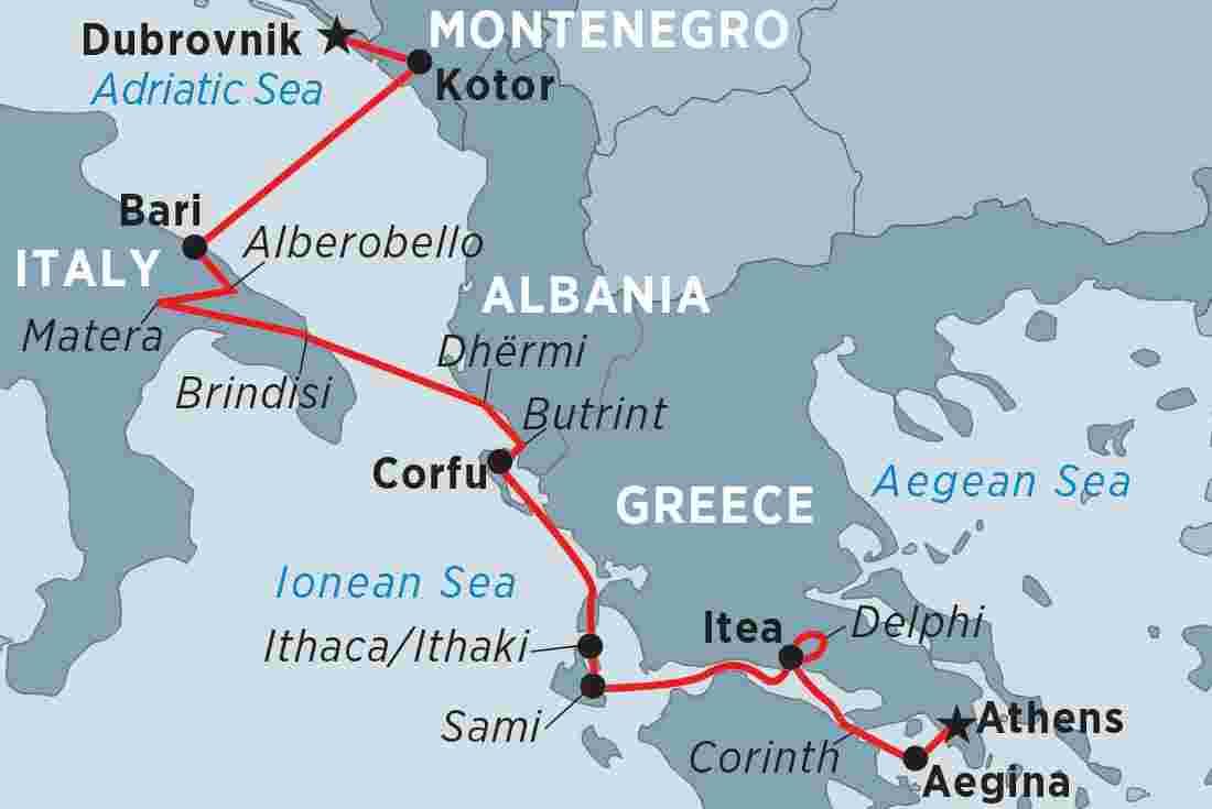 Cruising the Adriatic Coast: Dubrovnik to Athens overview | Cruising the  Adriatic Coast: Dubrovnik to Athens